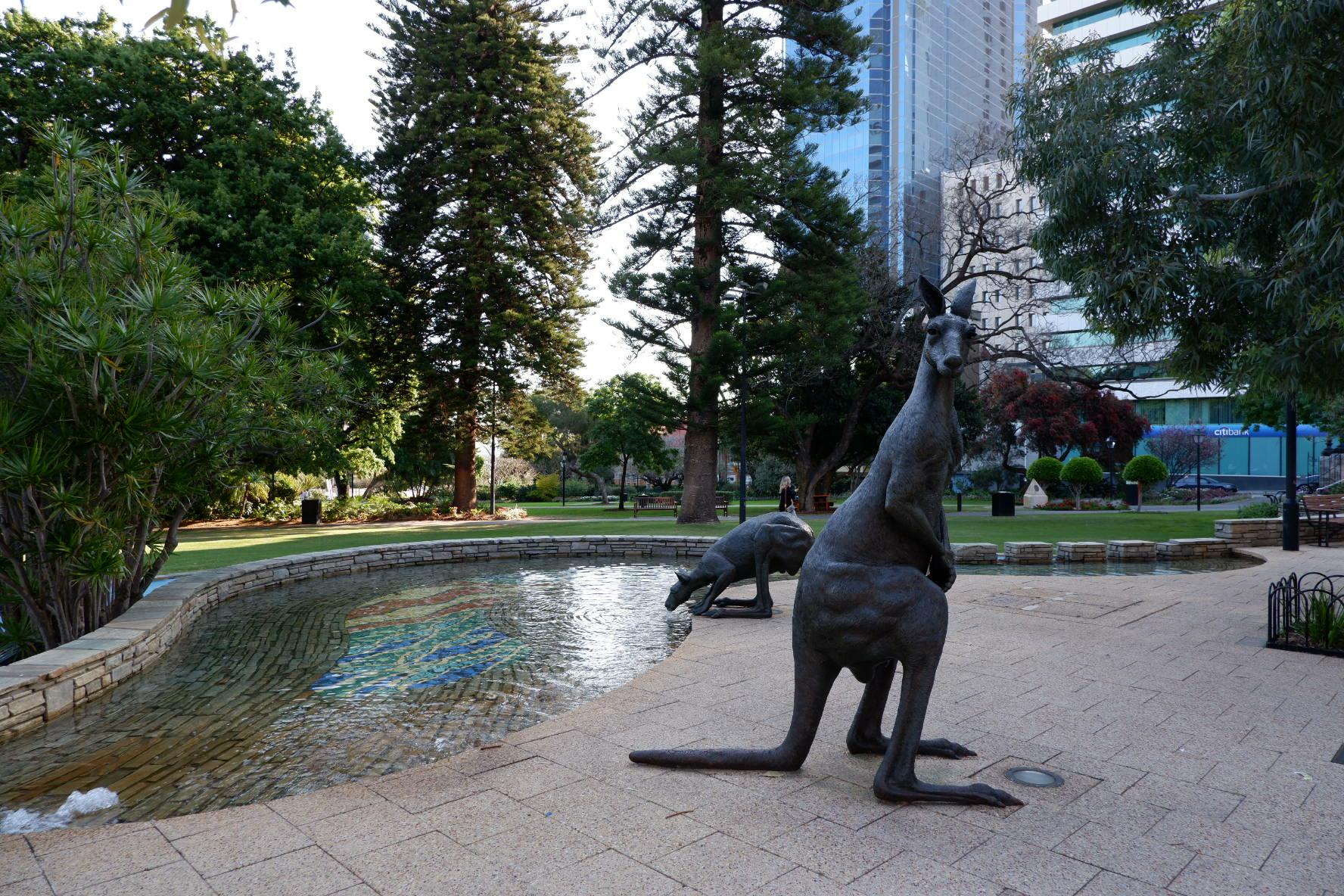 statue kangourou perth