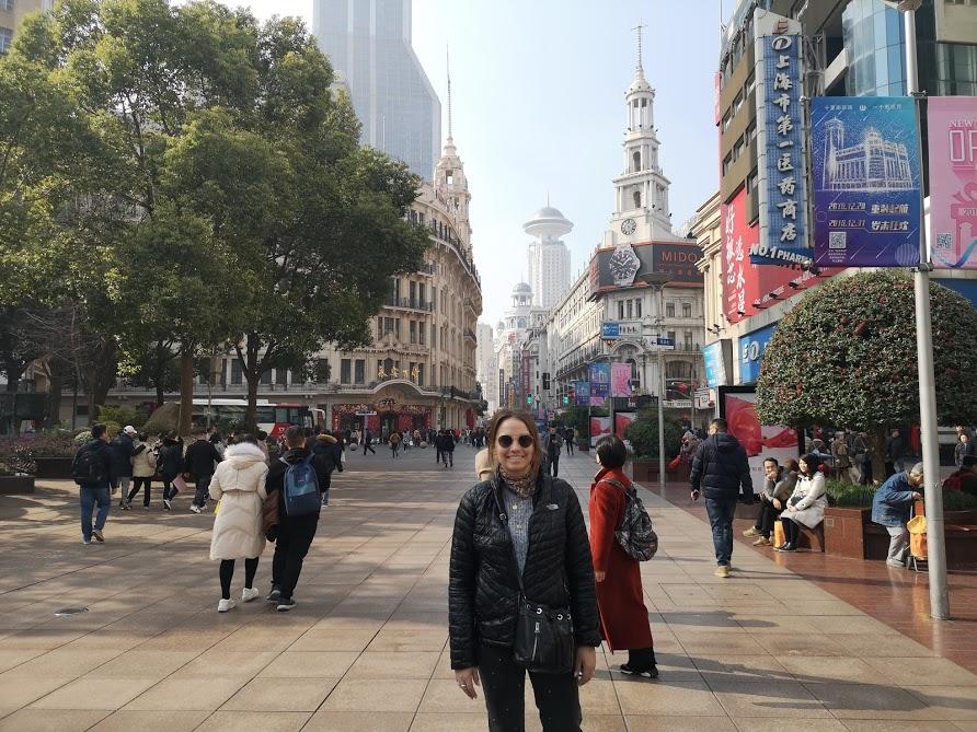 Nanjing road visiter Shanghai