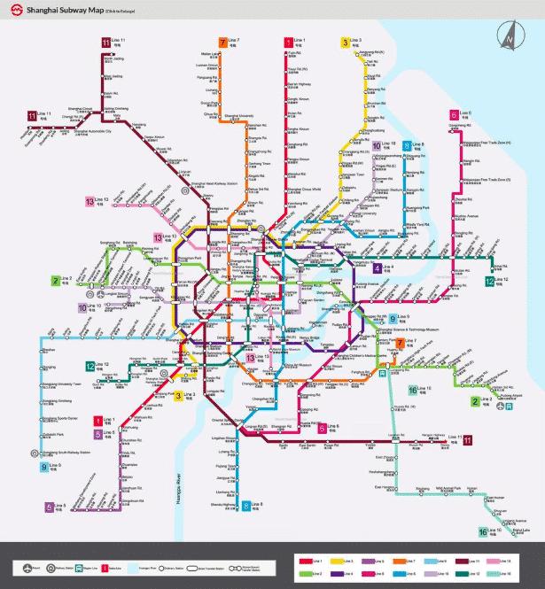 Carte du metro de Shanghai