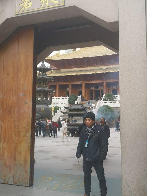 entrée principale jing an temple