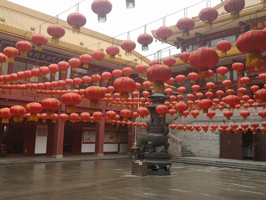 qibao à Shanghai lanternes rouge