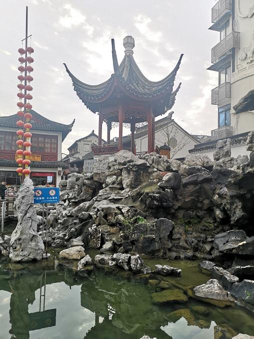 Entrée de la ville d'eau de Qibao à Shanghai
