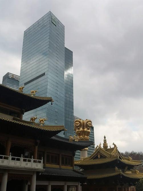 Quartier de Jing'An à Shanghai