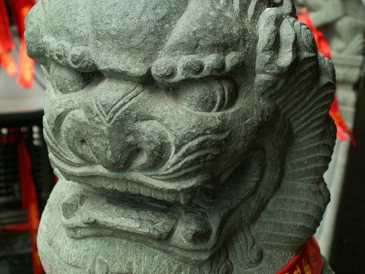 Statue temple du bouddha de Jade