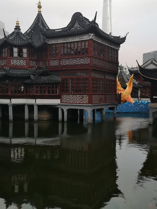 Yuyuan Garden bassin quartier vieille ville de Shanghai
