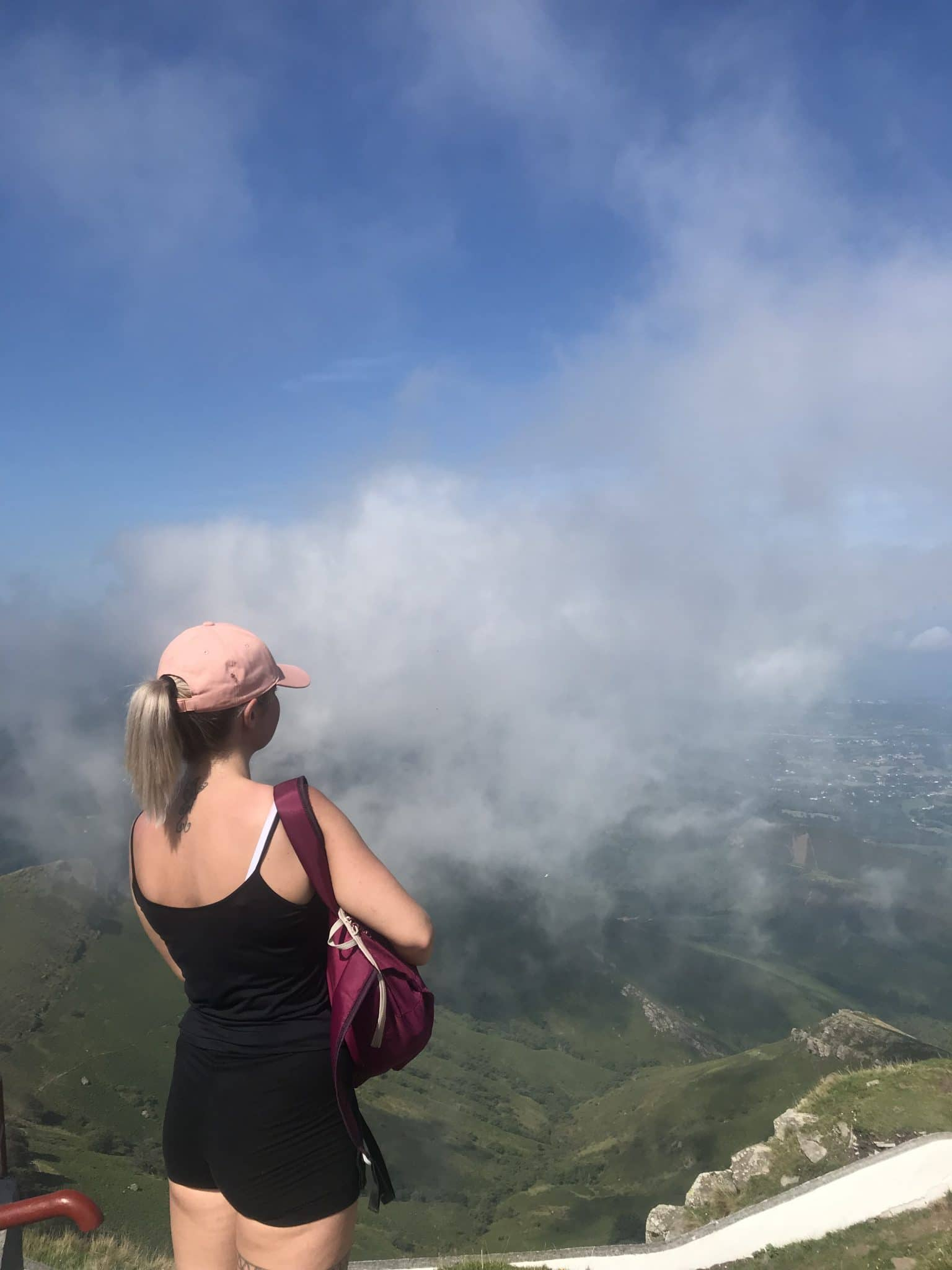 vue randonnée la rhune brume
