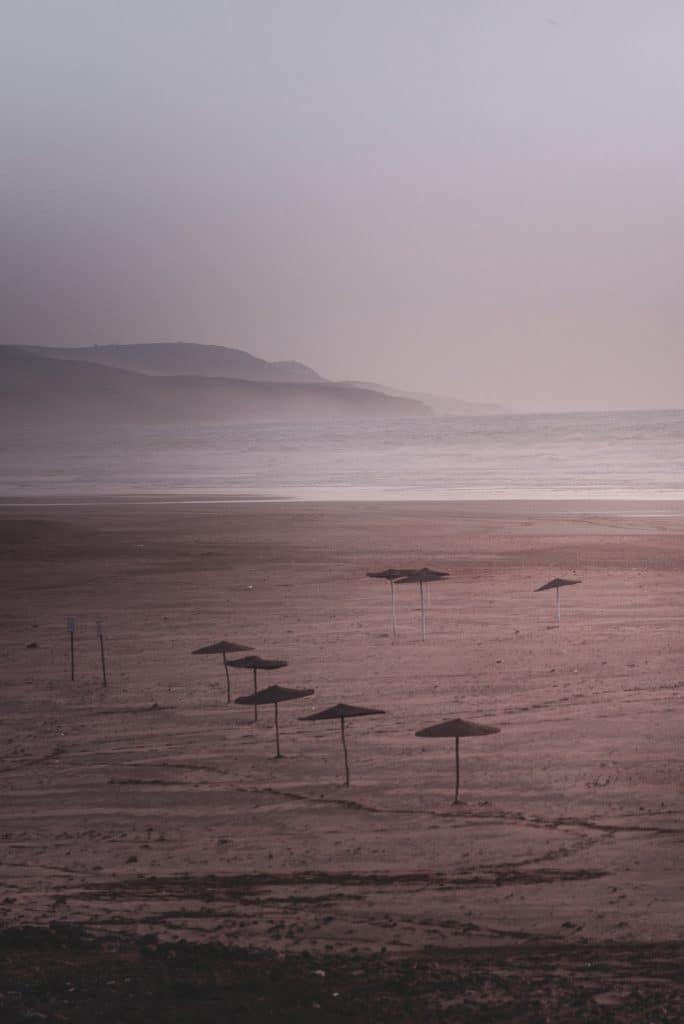 photo de la plage Sidi Kaouki pendant un road trip au maroc