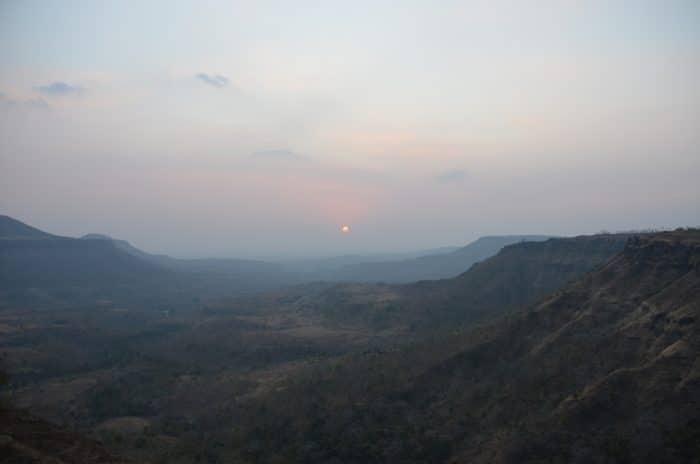 panorama mandu sunset madhya pradesh