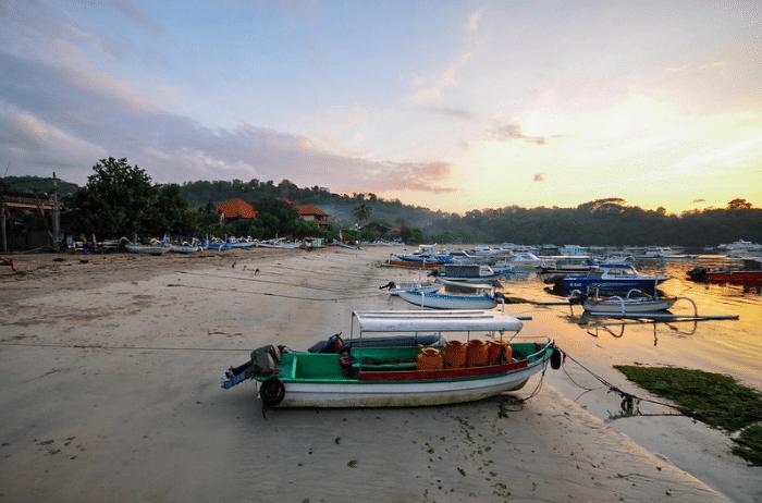 La plage de Padangbai