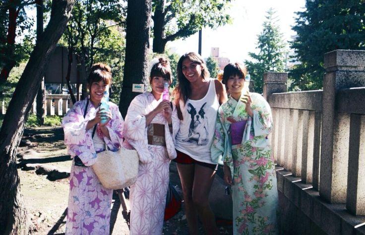 photo de famille au Japon