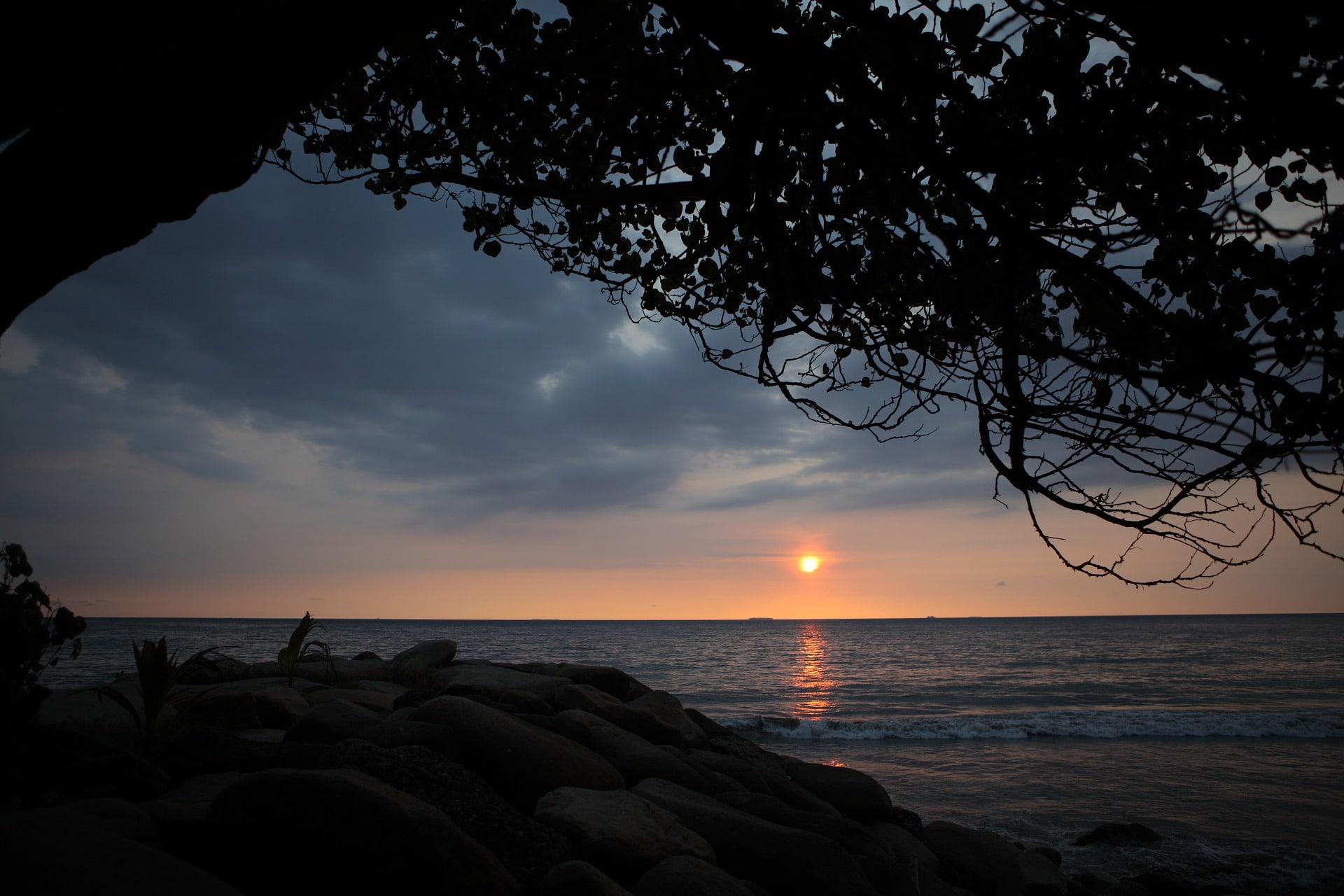 La plage de Padang