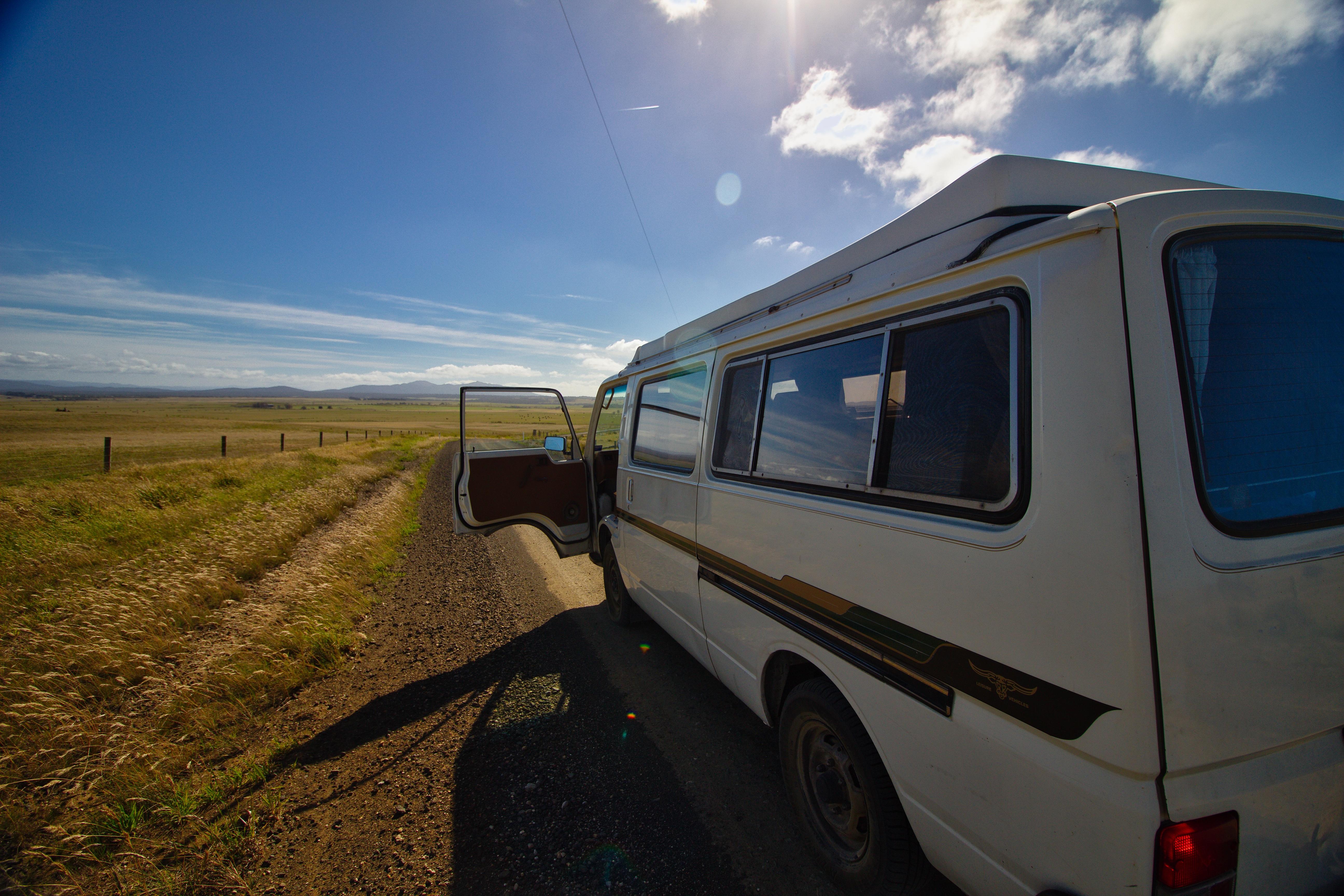 van road trip tasmanie australie