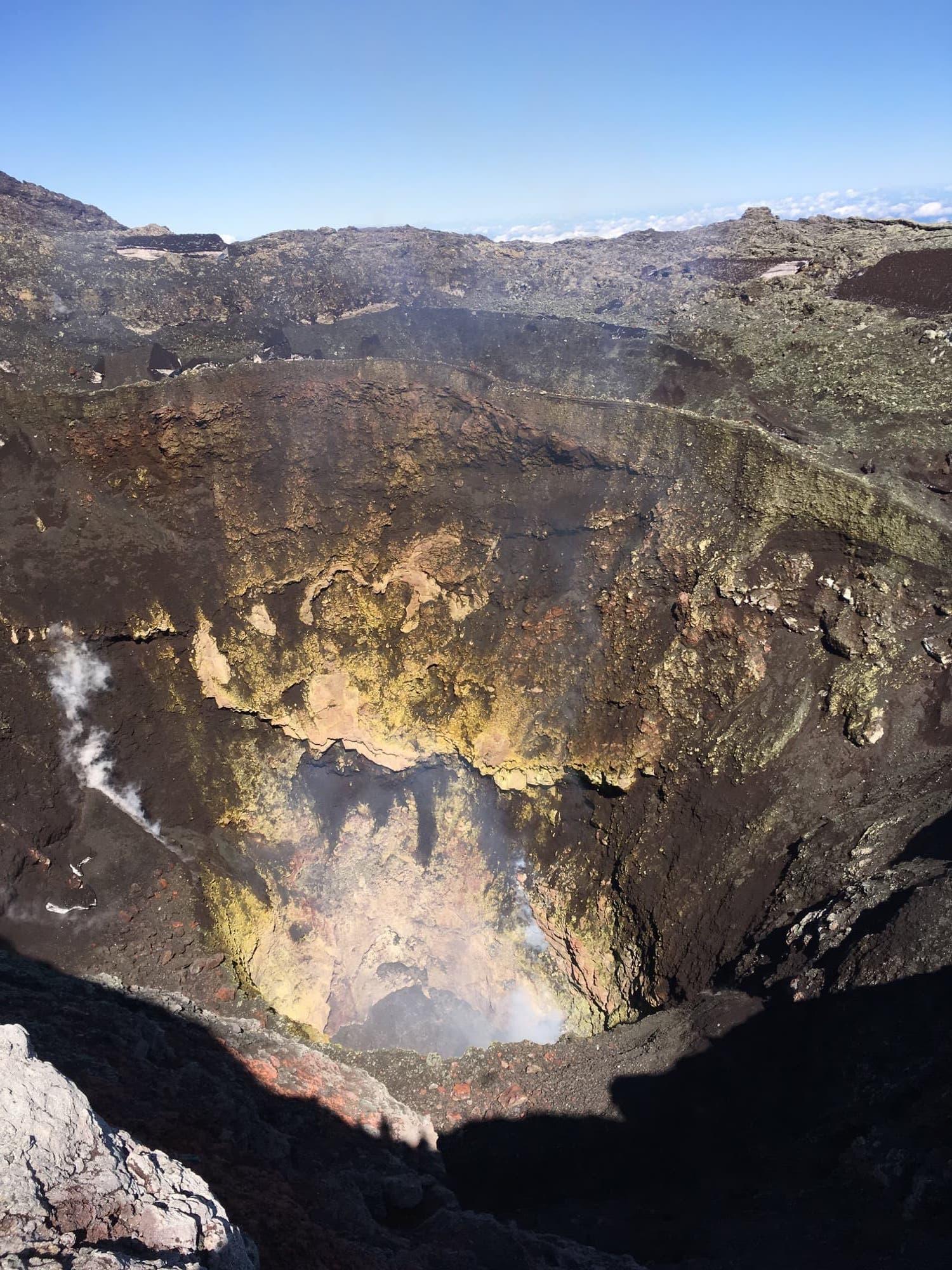 cratère volcan villarica