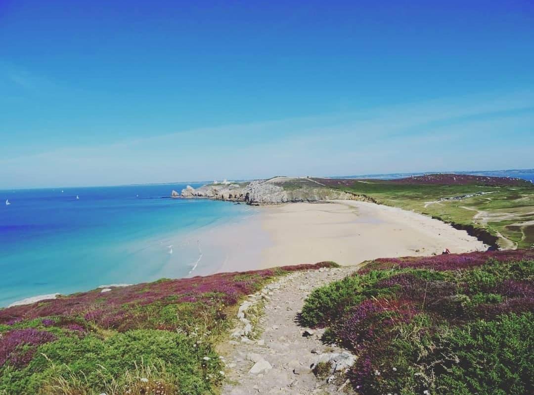 La plage de Pen-Hat, après Camaret est l'une des plus belle que nous ayons rencontrée.
