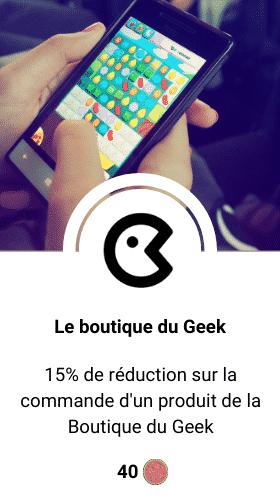 code promo la boutique du geek