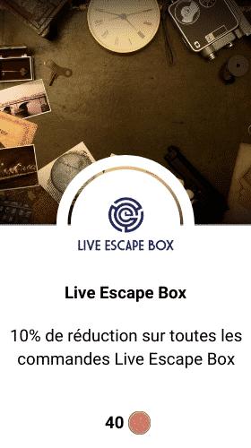 code promo live escape box