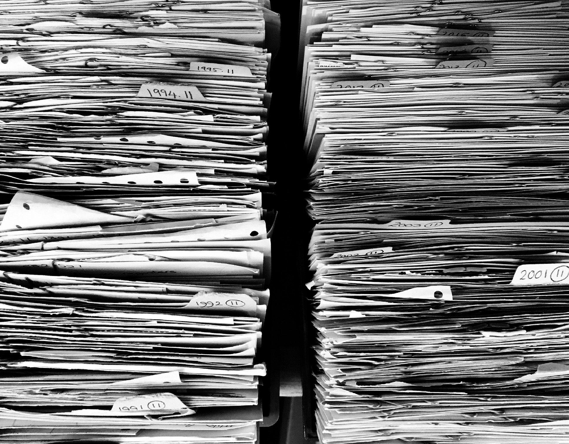 Dossiers d'assurances papiers