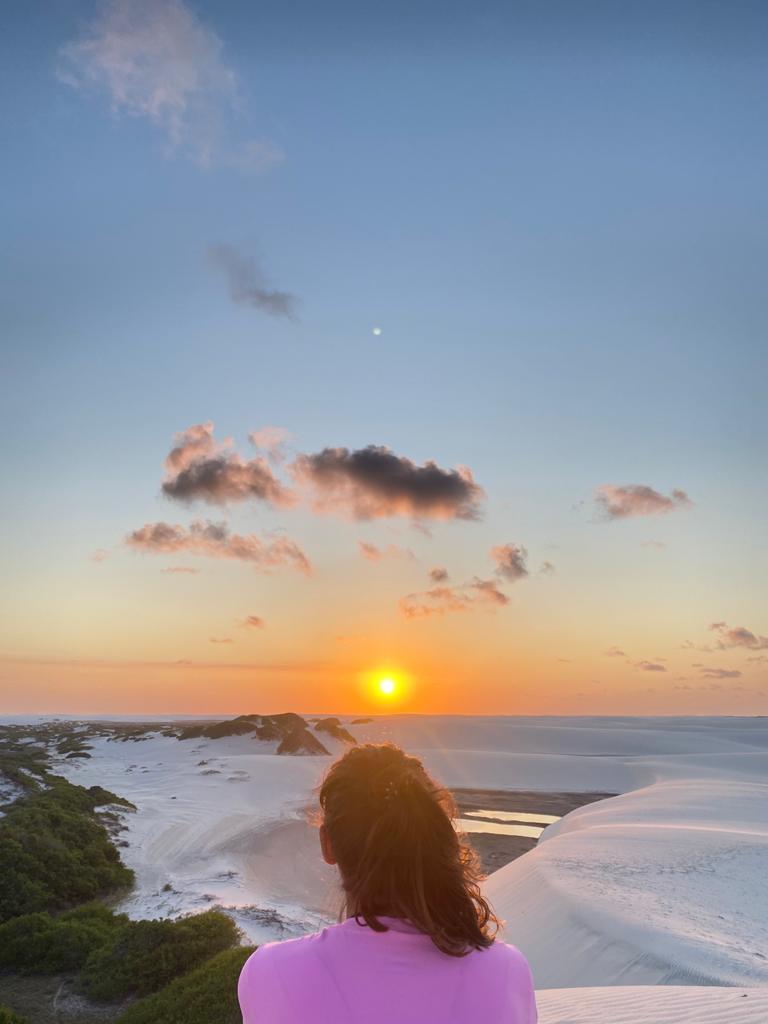 coucher de soleil désert du lençois