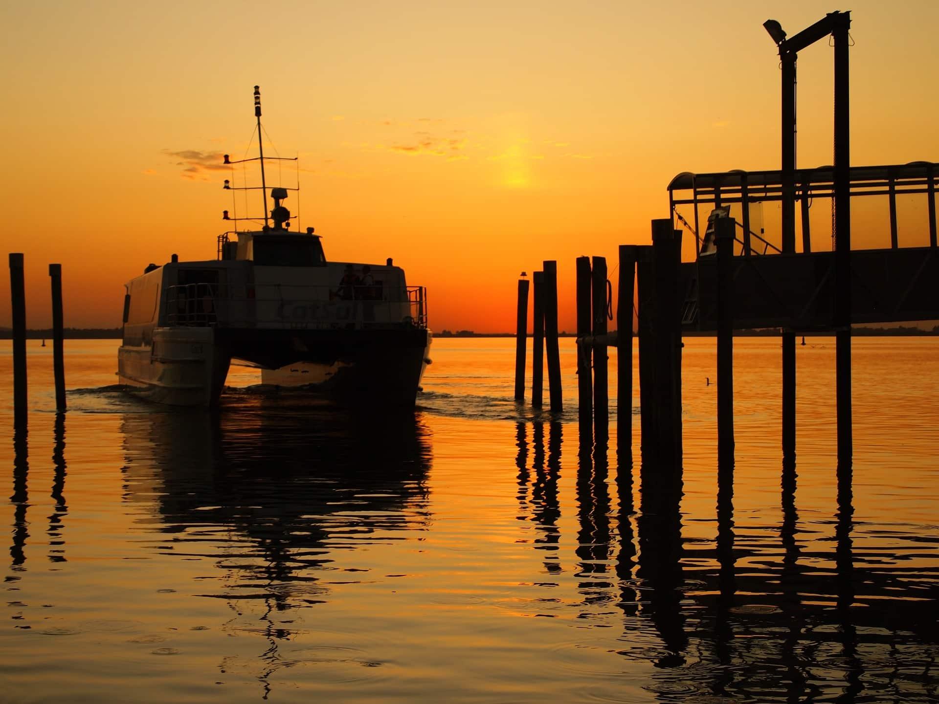 Coucher de soleil catamaran
