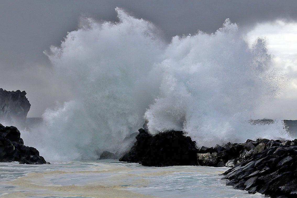 photo vague rocher