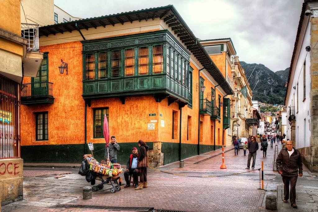 rues de la Candelaria à Bogota