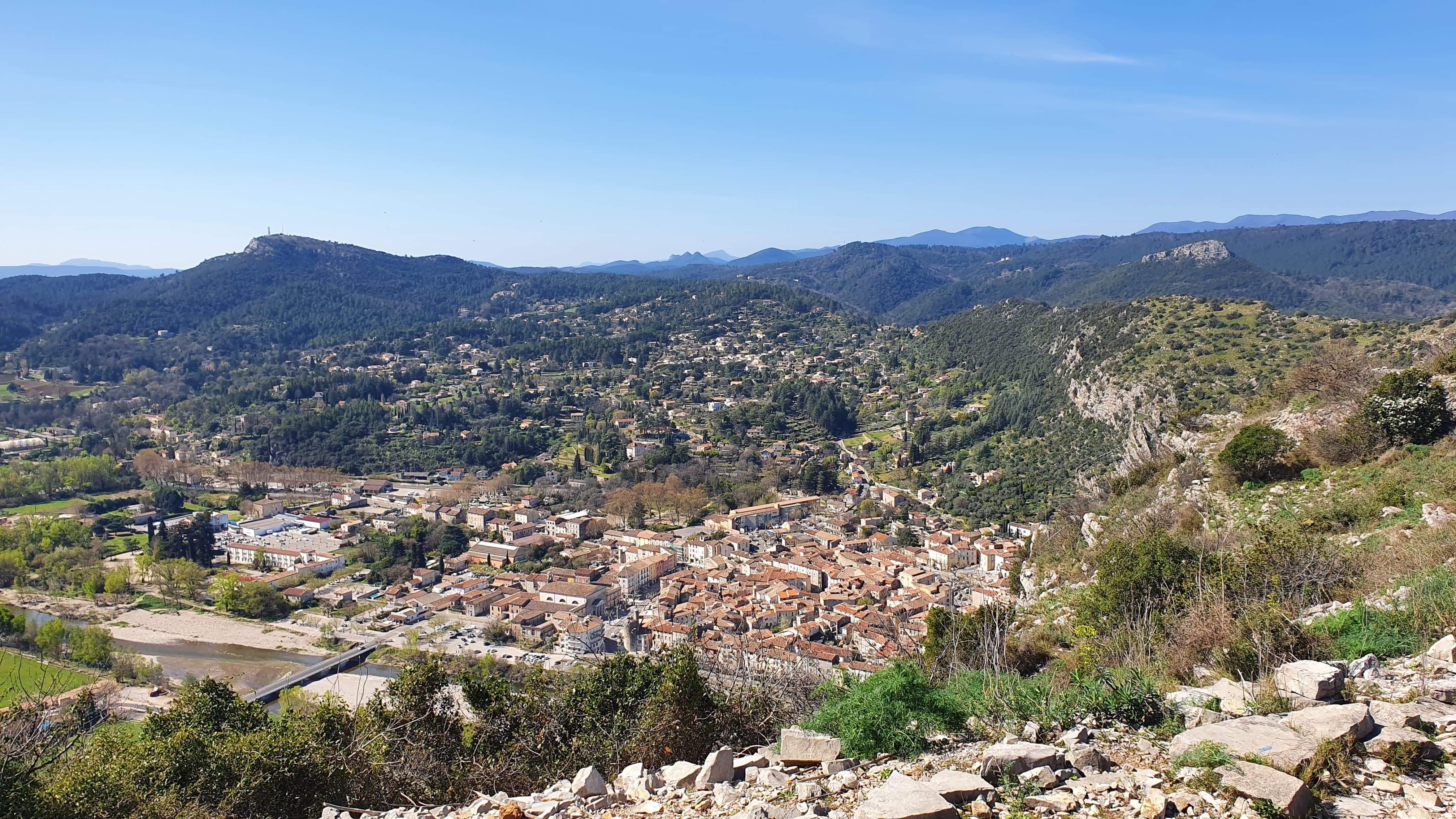 panorama depuis le rocher d'anduze